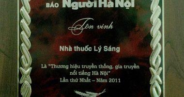 lý sáng thương hiệu truyền thống gia truyền nổi tiếng Hà Nội